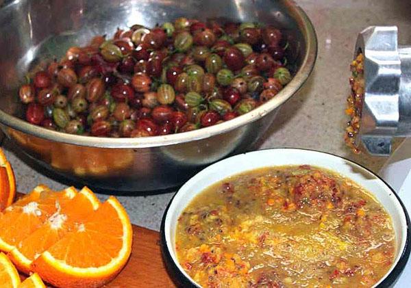 Рецепт варенья из крыжовника и апельсинов